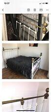 More details for antique vintage cast iron bed frame and base