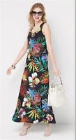 Attitudes by Renee Regular Printed Maxi Dress - Tropical - Small