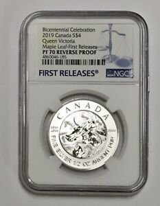 1819-2019 Bicentennial Celebration Maple Leaf  $4 PF 70 1/2 Oz Silver Coin