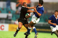 New Zealand All Blacks rugby union great Jonah Lomu,  No 48 OLD LARGE PHOTO