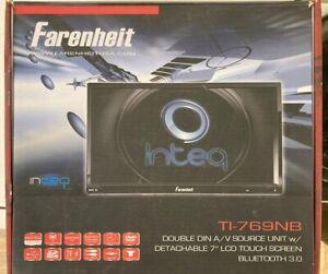 "Farenheit TI-76NB Double Din A/V Source Unit w/ Detachable 7"" LDC Touch Screen B"
