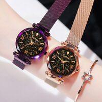 Luxury Women Watches Magnetic Starry Sky Female Quartz Wristwatch Watch Fashion