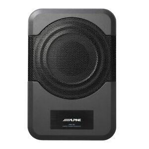 """Alpine PWE-S8, Compact Shallow Mount Powered 8"""" Subwoofer"""
