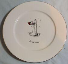 "Merry Masterpieces Christmas Dinner Plate ""Santa Klutz"" Washington Monument"