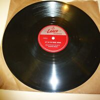BLUES 78 RPM RECORD - MARYLIN SCOTT - LANCE 1039