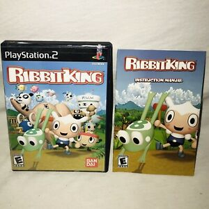 Ribbit King Replacement Case & Manual Only - PlayStation 2 PS2 **No Game**