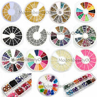 Glitter Rhinestone Pearl Bead / Spangles/Rivet /Hollow for Nail Art Tips Decor
