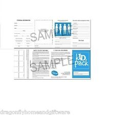 Kid Pack Missing Child ID Pack - With 2 Shoe Stickers and  Fingerprint Strip