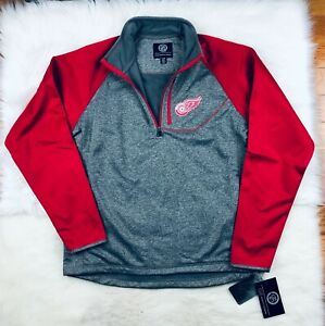 NHL Detroit Red Wings G-III Soft Shell 1/4 Zip Pullover Track Jacket Men's L