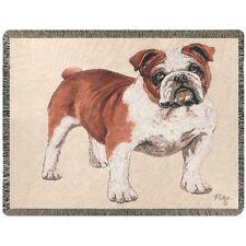 Bulldog Tapestry Afghan Throw ~ by Linda Picken