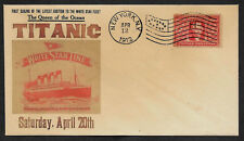 1912 Titanic Ad Reprint with 105 year old stamp on Collector's Envelope *OP581