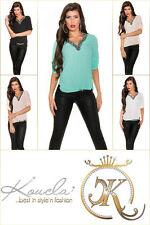 Markenlose Lockre Sitzende Damenblusen,-Tops & -Shirts im Blusen-Stil mit Chiffon
