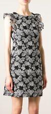 Giambattista Valli Giamba  Black Flower Embroidered Sleeveless Dress Size 44
