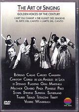DVD THE ART OF SINGING Callas Caruso Christoff Gigli Flagstad Tebaldi Wunderlich