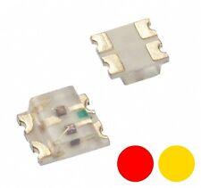 S738 - 20 Stück DUO Bi-Color LEDs SMD 0605 rot / gelb bicolor für Loks Wendezug