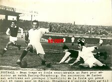 Photo presse Football 1948 Parc des princes Racing RC Paris RC Strasbourg