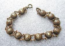 fine old gold tone shield link bracelet