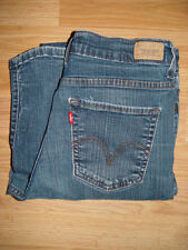 Levi Strauss 512 Women's Denim Blue Jeans Perfectly Slimming Boot Cut 8 Short B