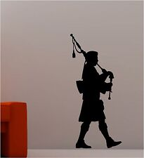SCOTTISH BAGPIPE PLAYER wall art sticker vinyl music
