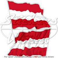 "AUSTRIAN Flying Flag AUSTRIA Bumper Stickers 75mm (3"")"