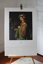 Rembrandt Lithograph Saskia Rare Vintage Flora Art Print Dutch