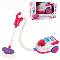 Vacuum Cleaner For Kids Role Hoover Fun Realistic Toy Pink with Light Sound Play