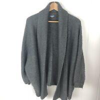 Aerie Womens M Medium Sweater Cardigan Shrug Grey Metalic Loose Dolman W