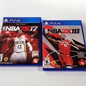 NBA 2K17 & NBA 2K18 PS4 (Sony PlayStation 4, 2017) **BOTH CIB/FREE SHIPPING**