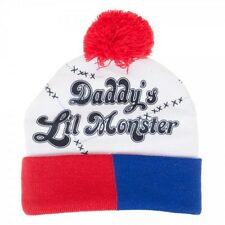Suicide Squad Harley Quinn Daddy's Lil Monster Pom Beanie Winter Hat *New*