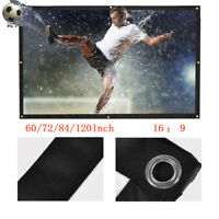 60-120 Inch Portable Foldable Home Projector Curtain Projection Screen 16:9 ZZ