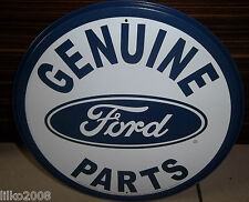 "FORD GENUINE PARTS , ROUND 12"" METAL WALL SIGN,USA, MUSTANG. F150, GT40,BRONCO"