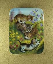 Family Outing How Pretty It Smells Plate #1 German Cat Kitten Jurgen Scholz