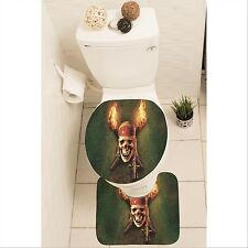Pirates of the Caribbean Set of 3 Bathroom Rug Mat Toilet Lid Cover y70 w0066