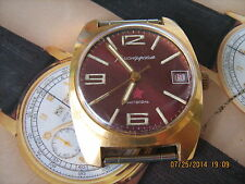 Komandirskie Soviet military wristwatch,cushion shape,hacking balance,nice cond.