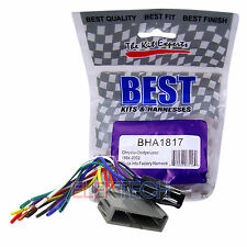 BHA1817 Aftermarket Radio Replacement Wire Harness for Chrysler Dodge Jeep
