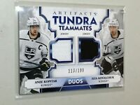 F37578 2019-20 ARTIFACTS TUNDRA TEAMMATES DUAL JERSEY ANZE KOPITAR/KINGS/199
