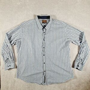 JOHNNY BIGG Tarocash Mens Plaid Long Sleeve Casual Dress Shirt Size 4XL