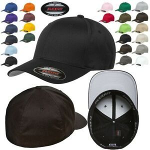 FLEXFIT Classic ORIGINAL 6-Panel Fitted Baseball Cap HAT S/M & L/XL All Colors!