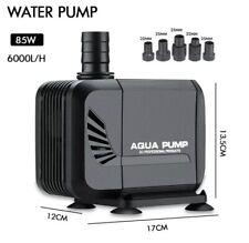 85 W 6000L/H Water Pump Fish Pond Aquarium Tank Outdoor Nozzle Fountain Garden