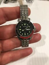 Vintage Ultra Rare Barracuda 33 MM 200M Dive Watch Diver Pepsi Coke Bezel  Runs