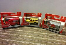 MATCHBOX 1990's COLLECTIBLES COCA COLA  LOT OF 3  -2 TRUCKS, I SUV