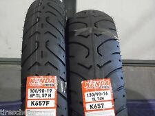 NEW HARLEY DAVIDSON DYNA TIRE SET 100/90-19 K657 & 130/90-16 K657 (MT90B16)