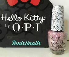 New! OPI HELLO KITTY NL H81 CHARMMY & SUGAR sparkly pink nail polish color