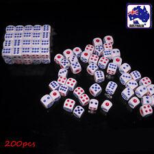 200pcs Plastic 12mm Game White Dice Die Card Game GDICE0112x200