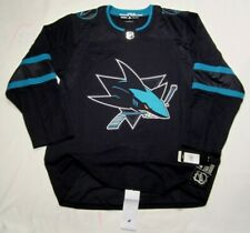 SAN JOSE SHARKS size 60 = 3XL - STEALTH ADIDAS NHL HOCKEY JERSEY Alternate 3rd