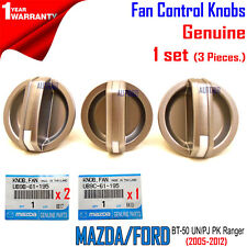 Genuine Ford PJ PK Ranger Heater Fan Control Knobs x 3 BT-50 Mazda UN 2005-2012