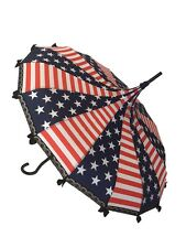 4 of July / Stars & Stripes print Umbrella/Parasol pagoda shaped by Hilary's Van