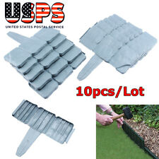 10Pcs/Lot Plastic Fence Stone Edging Borderstone Effect Garden Lawn Border