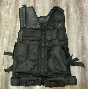 Military Army Tactical Vest Combat Hunting Training Breathable Mesh Vest, M
