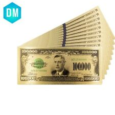 Home Decorative Souvenir Gifts 100000 Dollar US Color Bill Note for Collections